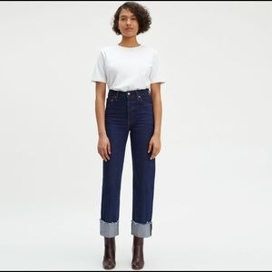 Levi's high-waisted Ribcage Jeans